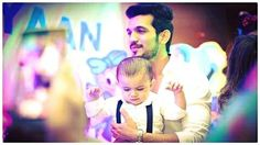 Tv actor Arjun Bijlani with his son