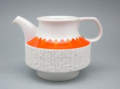 Funky vintage bisque porcelain creamer by Thomas, Rosenthal Group