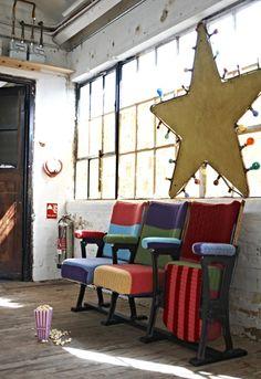 Knitting and Handmade Home Furnishings by Melanie Porter Handmade Home, Cinema Chairs, Cinema Seats, Movie Chairs, Musical Chairs, Cinema Room, Decoracion Low Cost, Decoracion Vintage Chic, Cool Ideas