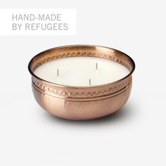 Sisterhood Candles: Hand-hammered Copper 6-inch Bowl
