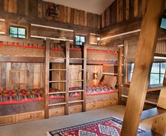 Inspired Bunk Beds With Stairs mode Other Metro Rustic Kids Remodeling ideas with American Indian prints area rug blankets Built-in bunk beds bunk beds bunk room chinking