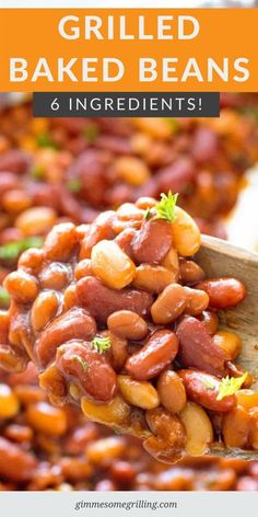 If you are grilling this summer you need to try these BBQ Baked Beans On the Grill for a quick and easy side dish recipe. With three different types of beans, seasonings and BBQ Sauce they are delicious. So easy, always a hit so you'll be making them again and again. #baked #beans Side Dish Recipes, Easy Dinner Recipes, Summer Recipes, New Recipes, Easy Recipes, Cookie Recipes, Vegetarian Side Dishes, Healthy Side Dishes, Cookies