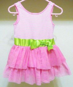 Chelsea's Corner Pink Tier Tulle Twirl Dress Sz 12m Baby Girls Summer  #PINK #DressyEverydayPageant
