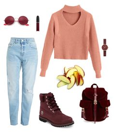 """""""School outfit"""" by t-elks on Polyvore featuring мода, Timberland, Herschel Supply Co., MAC Cosmetics, Ray-Ban и Skagen"""