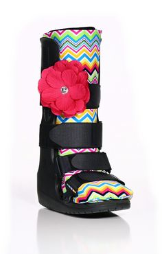 Our Missoni-themed Sock-It with Hot Pink Rhinestone Strap-It will put a spring in your step and make you feel incredibly fashionable while wearing a boot - Retail $27