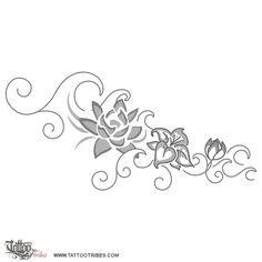 Tatuaggio di Fiori e onde, Protezione e prosperità tattoo - TattooTribes.com