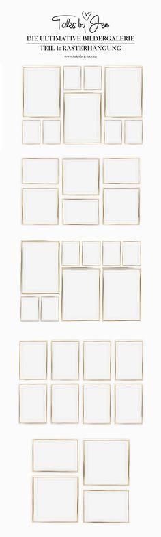 DIE ULTIMATIVE BILDERGALERIE   Ideen für deine Posterwand   Verwandle dein Wohnzimmer in ein Art Studio   Teil 1: Die Rasterhängung   www.talesbyjen.com