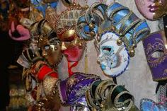 Various masques waiting for buyers