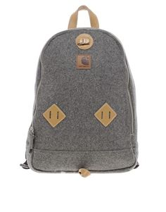 carthartt backpack with vintage detailing.