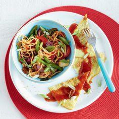Recept - Wokmie met zoetzure omelet - Allerhande
