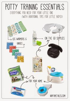 Potty training essentials with links to our favorite *must have* products. #pottytraining #supplies #pottytrainingboys #pottytraininggirls #thingsyouneedforpottytraining