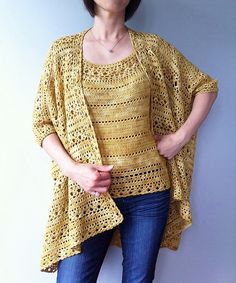 Ravelry: Arianna - two-way floral lace cardigan pattern by Vicky Chan