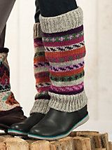 If I lived in a cold place, I would totally wear these!  Women's Handknit Boot Sweaters | Sahalie