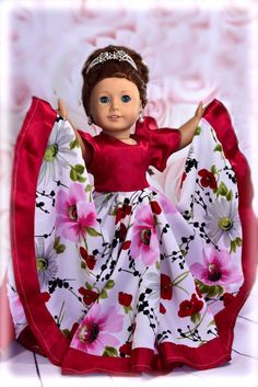 fee702b9ff 18 inch doll clothes pattern dress. Flamenco dress fits 18 inch dolls such  as American girl doll - PDF sewing pattern instant download