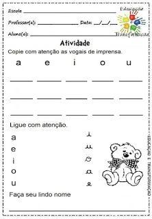 Atividades para Jardim: Vogais e encontros vocálicos Baby F, Homeschool, Funny Memes, Activities, Quotes, 1, Emoji, Amanda, Language Activities