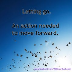 #Letting go to move forward