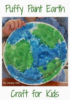 Puffy Paint Earth Craft Idea.  A Fun Earth Day Craft for Kids