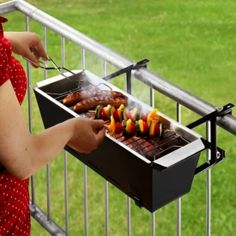 Have a delicious barbeque with this new efficient balcony BBQ. Welldonestuff.com
