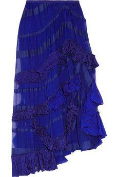 "missoni ""haydee silk-chiffon and crochet knit skirt""  LOOOVE the texture <3"