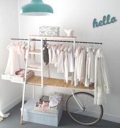 ideen kleiderstange design kinderzimmer mädchen