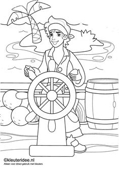 free pre k pirate color pages