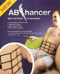 Get a 6-pack in seconds! HAHAHAA!!! funny!