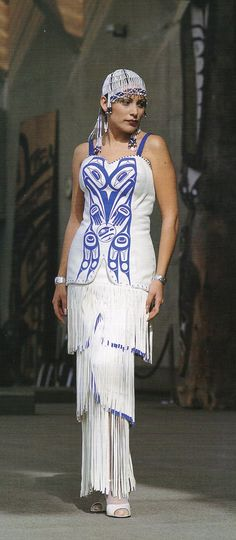 Native wedding dress..BEYOND BUCKSKIN: 'The Raven Takes the World'