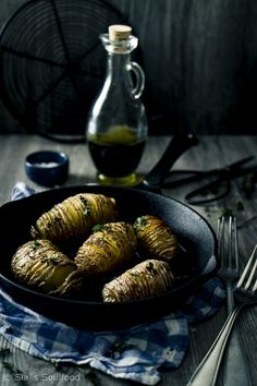 sia´s soulfood foodblog: Knusprige Fächerkartoffeln mit Thymian