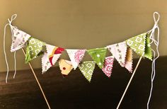 Cake Topper Mini Banner Decoration for Wedding by stitchinnetka, $15.00