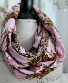 oh deer realtree pink camo infinity scarf by lessoules on Etsy, $24.00