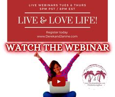 Take control of the future and learn to become a successful entrepreneur! If you're interested in learning more, register at our website below to watch a COMPLIMENTARY, NO obligation Webinar!! LIVE Tuesday & Thursday 5pm PST / 8pm EST Register here ⬇️⬇️⬇️ www.derekandjanine.com Replay available anytime! Cheers! Derek & Janine #DerekandJanine #DJGetLivingNow #StartLivingYourBestLifeNow #DreamBigLiveBigger #LaptopLifestyle #DigitalBusiness #AskUsHow #TakeActionNow Live Love Life, Life Is Good, Your Best Life Now, Replay, Online Work, Live For Yourself, Dream Big, Cheers, Thursday