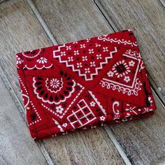 Business Card Credit Card WalletSmall Wallet Red Bandana