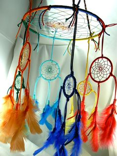 Dream Catcher Baby Mobile, like the idea but I think I'd take it in a different direction