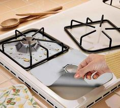 To keep your gas stove looking spotless from accidental spills…