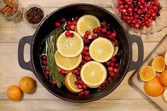 DIY Holiday Home Scents Bring the scent of the holidays to your home with this quick recipe. Before you know it, the scent of orange and cinnamon will be wafting through your home, warming the air with spice and cheer.