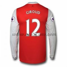 Arsenal Fotbalové Dresy 2016-17 Giroud 12 Domáci Dres Dlouhým Rukávem