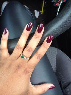 Purple OPI nail polish acrylic pretty ... Brigermxoxo