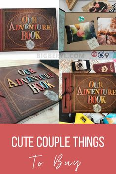 Our Adventure Book, Adventure Couple, Creative Birthday Gifts, Cute Birthday Gift, Relationship Gifts, Perfect Relationship, Unique Gifts For Him, Gifts For Husband, Couple Presents