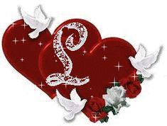 Alfabeto tintineante con corazones y palomas. - Oh my Alfabetos!