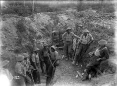 Members of the World War I Maori Pioneer Battalion taking a break from trench improvement work near Gommecourt, France. Photograph taken by Henry Armytage Sanders on the of July, Nz History, History Online, World War One, First World, Anzac Soldiers, Maori Art, World Globes, Lest We Forget, Maui