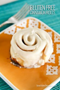 #GlutenFree Cinnamon Roll  - Recipe by a blogger using Cup4Cup flour. Easy and Delish!