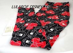 c0f2f593fa798f LULAROE DISNEY COLLECTION LEGGINGS UNICORN MINNIE TC RED BLACK SWIRL TALL  CURVY #LuLaRoe