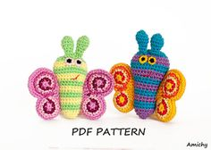Amigurumi Pattern Instant Download Butterfly Toy Crochet by Amichy, $5.00