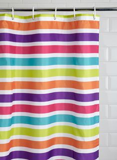 Brights Horizontal Stripe Shower Curtain Bathroom Accessories For The Home Bhs Striped