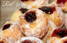 Red Wine Jelly Doughnuts - FDPRN.com