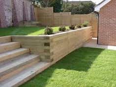 Image result for step into retaining wall