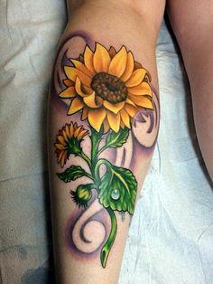Sunflower tattoo #necktattoosideas