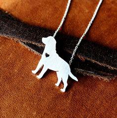 Sterling Silver Labrador Retriever Necklace, Dog Park Publishing