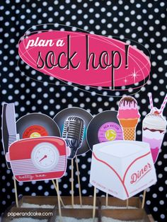 Paper and Cake | 1950s Style Printable Photo Booth Props | http://www.paperandcake.com