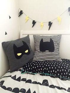 Cushions - Batman Decoration - Ideas of Batman Decoration - Batmask Batman Plush Grey Kids Cushion with Felt Mask Superhero Decor Kids Bedroom, Bedroom Decor, Bedroom Ideas, Batman Bedroom, Superhero Room, Toddler Rooms, Deco Design, Baby Kind, New Room